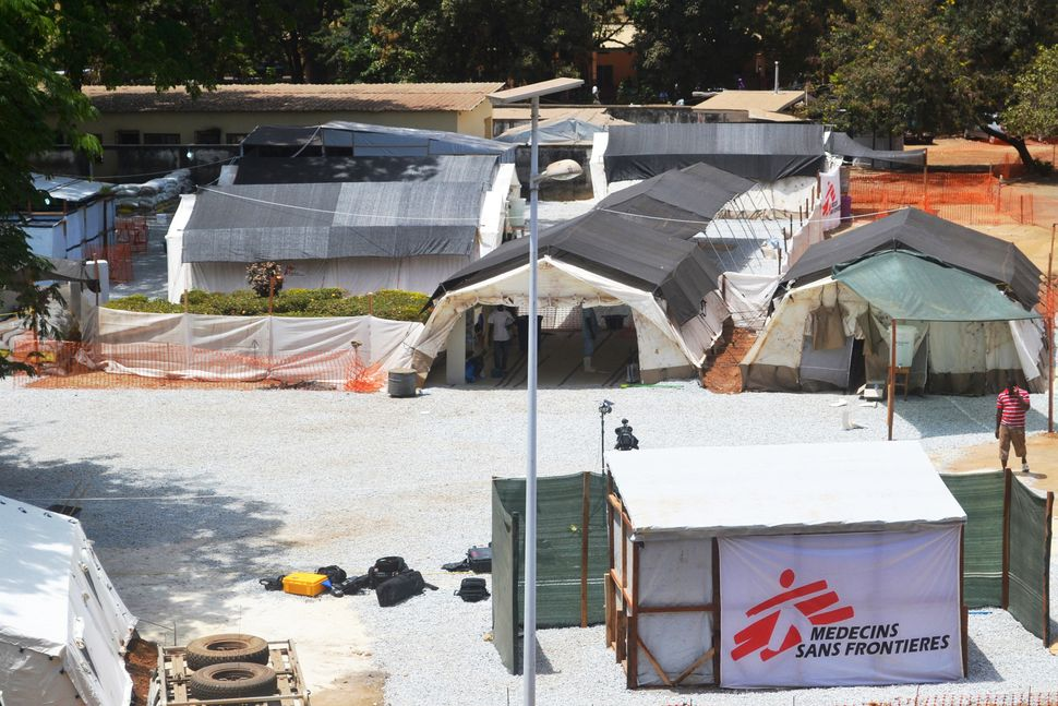 View of an isolation center for people infected with Ebola at Donka Hospital in Conakry. (Cellou Binani/AFP/Getty Images)