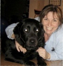 """""""Within months of separating, a beautiful black Lab named Gracie came into my life.  When you live alone, it can be hard to c"""