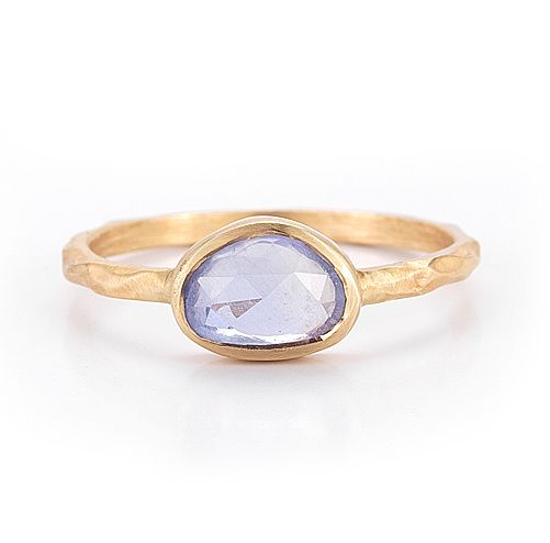 Blue sapphire and 14k gold, $695.
