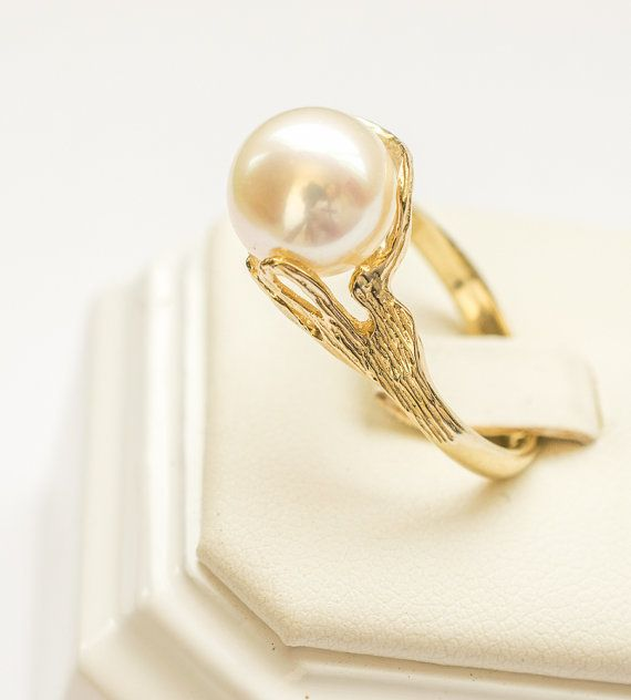 Pearl and 14k yellow gold, $495