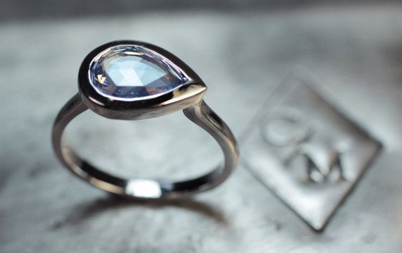 Sapphire and 14k white gold, $2,299
