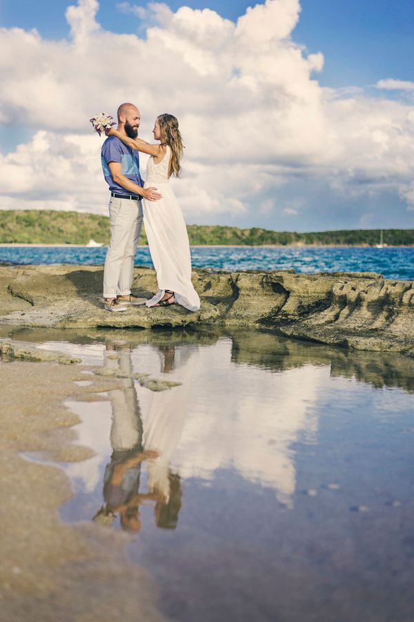 """""""Desirae Schoppe and Kevin Pease eloped on Vieques Island on Tuesday, July 29, 2014."""" - Sandy Malone, Weddings in Vieques"""