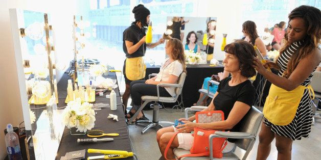 NEW YORK, NY - JUNE 20:  Amex 'Epic EveryDay Getaway' winners enjoy the ultimate makeover with Rent the Runway, Sephora and Drybar at Milk Studios as part of the Amex 'Epic EveryDay Getaway'on June 20, 2014 in New York City.  (Photo by Bryan Bedder/Getty Images for American Express)