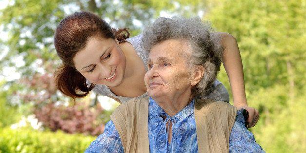 senior  woman in a wheelchair...