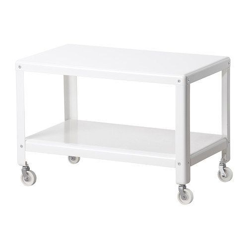 """<a href=""""http://www.ikea.com/us/en/catalog/products/50208451/"""" target=""""_blank"""">IKEA PS 2012 coffee table in white</a>, $50."""