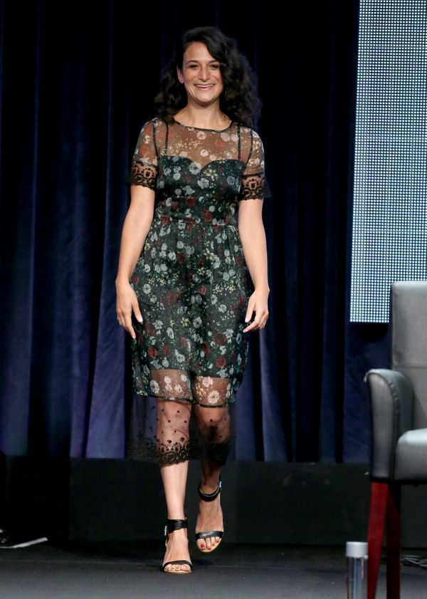 """<strong>Shop The Look: </strong><a href=""""http://couture.zappos.com/rachel-roy-open-grid-dress-black?zlfid=2&PID=2687457&AID=1"""