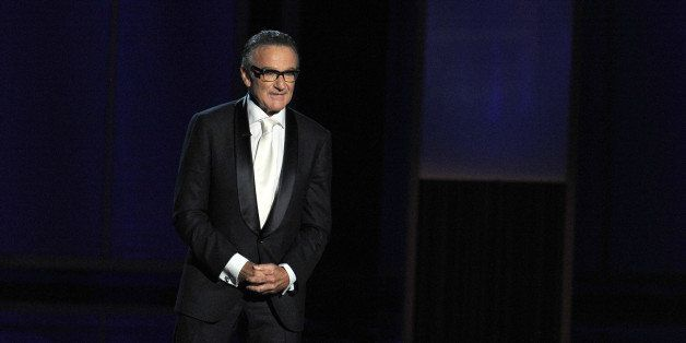 LOS ANGELES, CA - SEPTEMBER 22: Presenter Robin Williams speaks onstage during the 65th Annual Primetime Emmy Awards held at Nokia Theatre L.A. Live on September 22, 2013 in Los Angeles, California. (Photo by Kevin Winter/Getty Images)