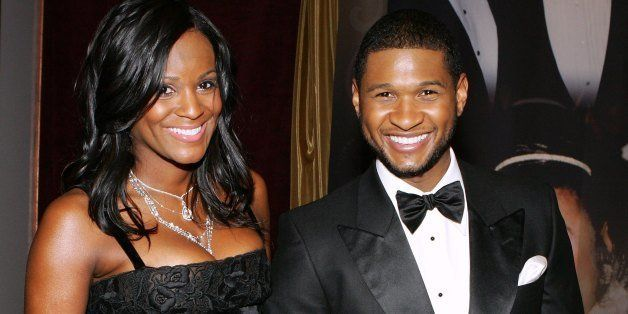 LAS VEGAS - JANUARY 22:  R&B Artist and Actor Usher Raymond arrives with girlfriend Tameka Foster at the 15th annual Trumpet