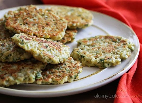 """Cauliflower fritters are potato pancakes' just-as-tasty cousin. Try the <strong><a href=""""http://www.skinnytaste.com/2009/02/c"""