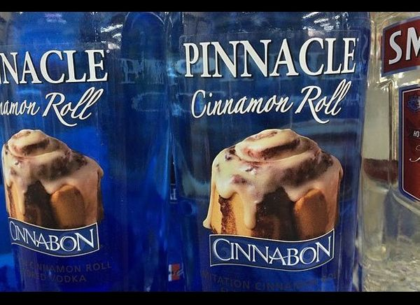 In 2013, Cinnabon teamed up with Pinnacle Vodka to introduce Cinnabon Vodka. We'll let you know when we find a suitable mixer