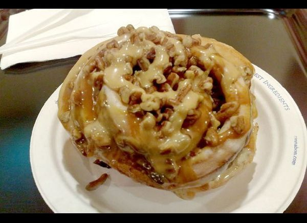 The Caramel Pecanbon is their unhealthiest offering by far, packing 1,080 calories, 50 grams of fat, 20 grams of saturated fa