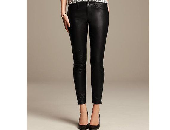 "Yes, you can wear faux leather to the office, and these Banana Republic pants prove it.   <br>  $110, <a href=""http://bit.ly/"