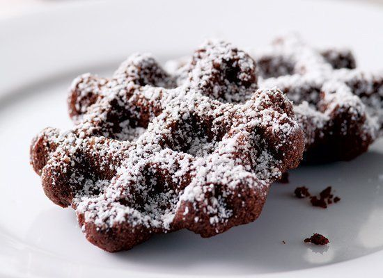 You don't need an oven to make these chocolate cookies, just a waffle iron. The batter includes instant espresso powder and c