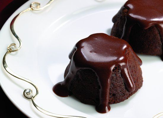 The famous molten chocolate cake is really just a mini under-baked cake with an oozy center. Instant espresso powder adds an