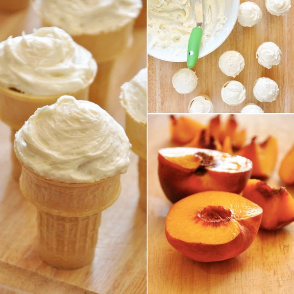 "<strong>Get the <a href=""http://minimalistbaker.com/vegan-peach-cupcakes-with-honey-buttercream-frosting/"" target=""_blank"">Pe"