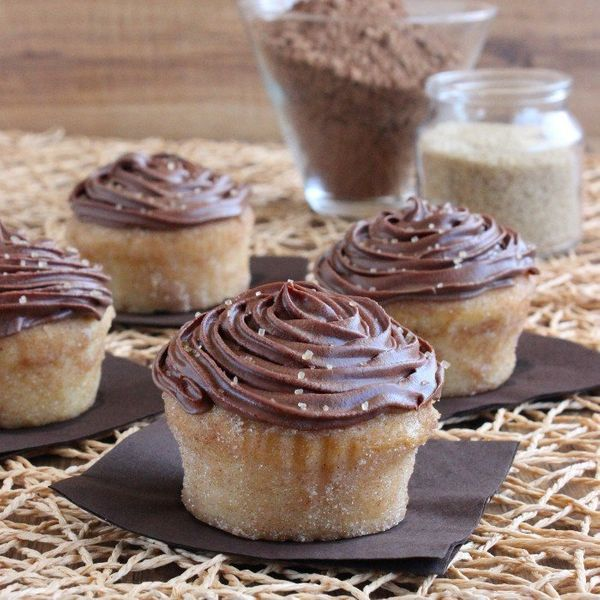 "<strong>Get the <a href=""http://veganinthefreezer.com/2014/08/16/chocolate-frosted-lemon-cupcakes/"" target=""_blank"">Chocolate"