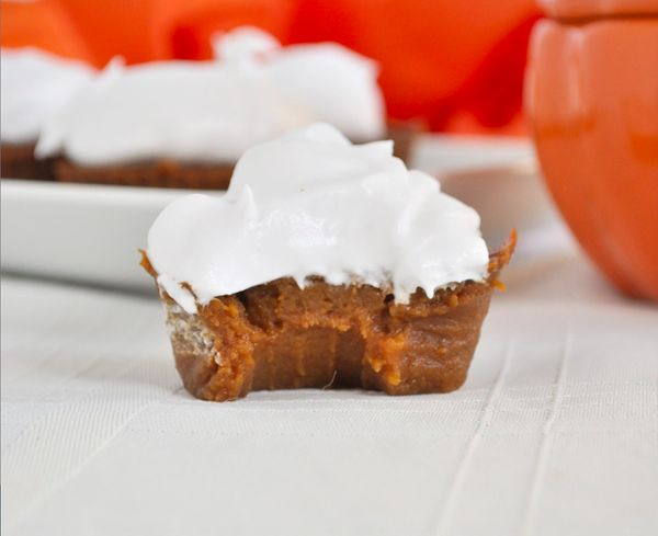 "<strong>Get the <a href=""http://mywholefoodlife.com/2014/09/07/paleo-pumpkin-pie-cupcakes/"" target=""_blank"">Paleo Pumpkin Pie"