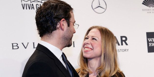 NEW YORK, NY - FEBRUARY 05:  Marc Mezvinsky and Chelsea Clinton attend the 2014 amfAR New York Gala at Cipriani Wall Street on February 5, 2014 in New York City.  (Photo by Kevin Tachman/WireImage)