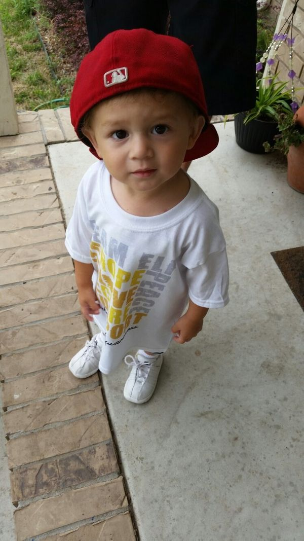 This is our precious boy Eli Mason Vela.  He just turned two August 6th. He was diagnosed with acute lymphoblastic leukemia s