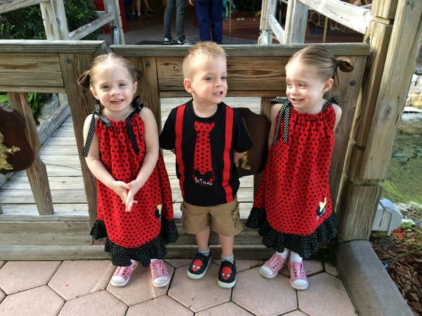 Aidan is one in a set of triplets, with two sisters. They were born at 29 weeks weighing less than three lbs. Aidan was born