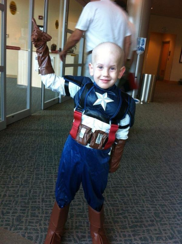 This is my son Aaron. He was diagnosed at 4 years old with ewing's sarcoma stage 4. He underwent 14 rounds of chemo, 28 round