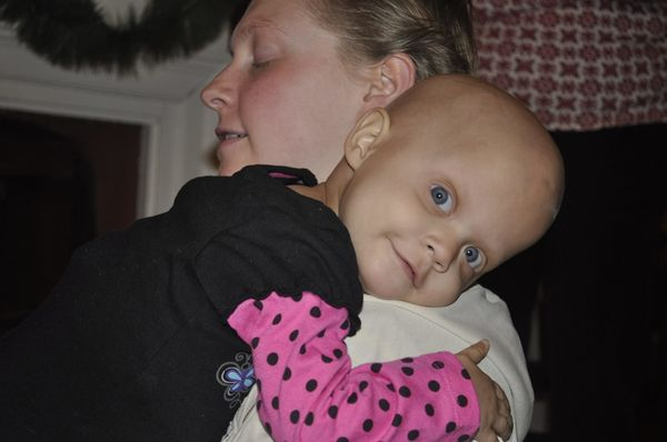 My daughter, Saoirse Fitzgerald, was diagnosed at 11 months old with stage 4 high risk neuroblastoma. <em><strong>Her diagnos