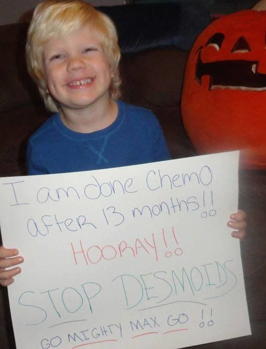 My son has a very rare desmoid tumor. Although it won't metastasis, it is a very difficult tumor to treat. He is off chemo an
