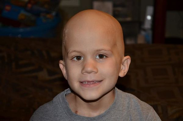 Our son Noah is 6 years old and was diagnosed with ewing's sarcoma in April 2014. He just completed three months of chemo (ha