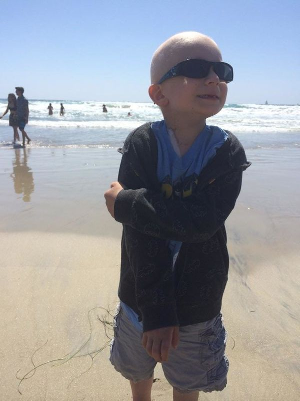 This is our son Keaton. He was diagnosed with infant acute lymphoblastic leukemia at the age of 11-months in 2009. He went th