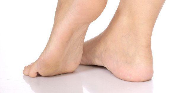 long pretty woman legs taking...