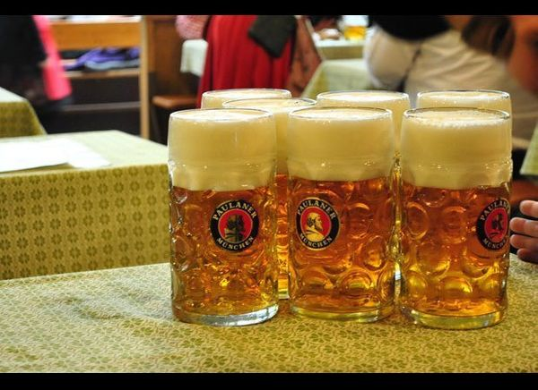When beer was finally allowed to be served and enjoyed at the festival, a lager or Märzenbier brewed by Munich breweries beca