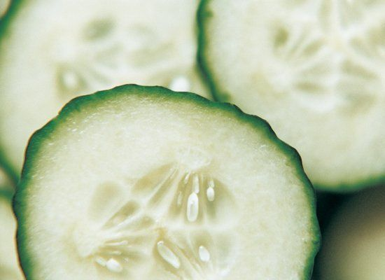 Use cucumber slices to polish stainless steel pots, pans or your faucet and sink. Also use it to remove marks from walls -- i