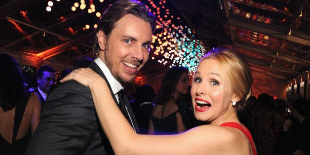 WEST HOLLYWOOD, CA - MARCH 02:  (EXCLUSIVE ACCESS, SPECIAL RATES APPLY) Dax Shepard and Kristen Bell attend the 2014 Vanity Fair Oscar Party Hosted By Graydon Carter on March 2, 2014 in West Hollywood, California.  (Photo by Kevin Mazur/VF14/WireImage)