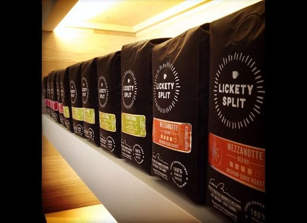 The Lickety-Split coffeehouse sells pour-over and cold-brew coffee made with single-origin beans from Seattle's Caffè Umbria,