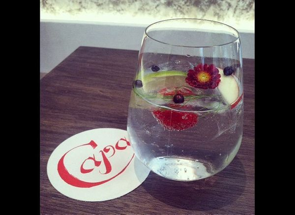 The team from Michael Chiarello's restaurant La Coqueta consulted on the gin and tonic menu at Capa, a Spanish steakhouse. Th