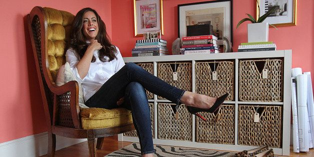 NEWTON, MA - SEPTEMBER 29: Interior designer/writer Erin Gates, has a new book out called 'Elements of Style: Designing a Home and a Life.' She is photographed in her studio. (Photo by Suzanne Kreiter/The Boston Globe via Getty Images)