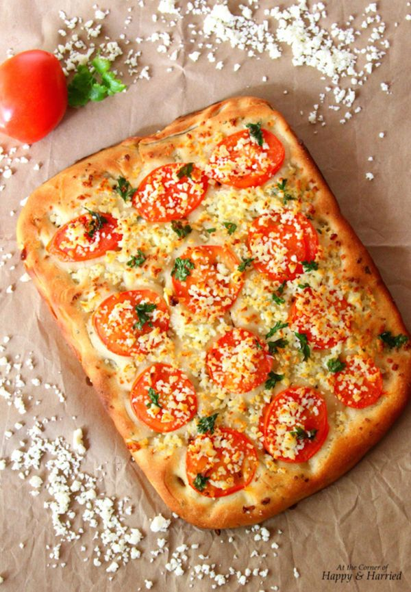 "<strong>Get the <a href=""http://happyandharried.wordpress.com/2014/05/16/tomato-parsley-cottage-cheese-focaccia/"" target=""_bl"