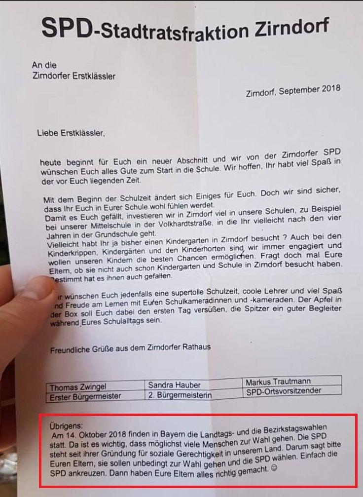 Bayern: SPD-Stadtrat schreibt verzweifelten Wahlkampf-Brief an
