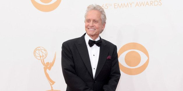 LOS ANGELES, CA - SEPTEMBER 22:  Actor Michael Douglas arrives at the 65th Annual Primetime Emmy Awards held at Nokia Theatre L.A. Live on September 22, 2013 in Los Angeles, California.  (Photo by Jason Merritt/Getty Images)