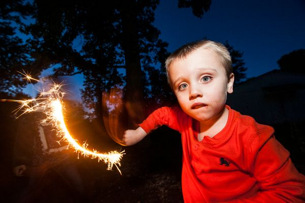 Night photos with sparklers! Need I say more?