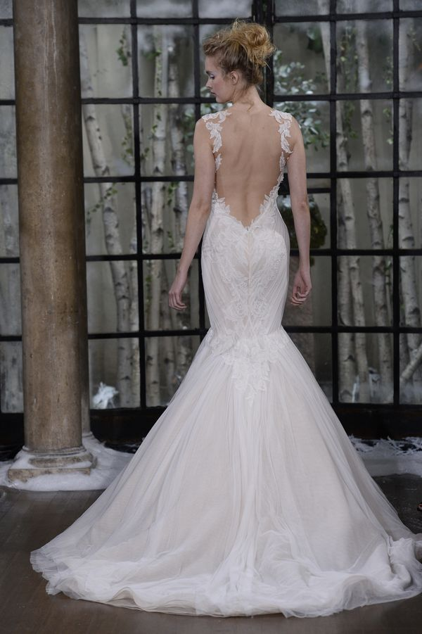 Top Wedding Dress Trends From The Fall 2015 Bridal Runways   HuffPost