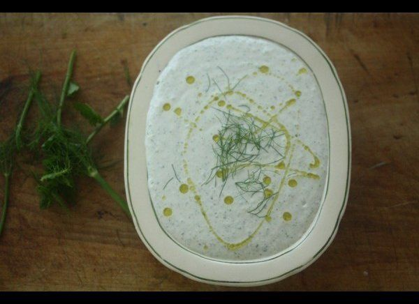 This dip is equipped with fennel and mint to put a fresh and versatile spin on classic Middle Eastern tzatziki. Try it with p