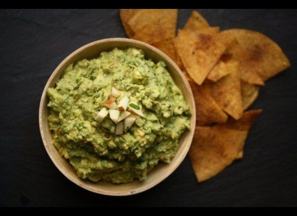 This special guacamole will satisfy both your savory and sweet cravings with its creative combination of chipotle chili and a