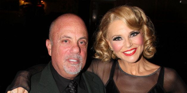 NEW YORK, NY - JUNE 11:  (EXCLUSIVE COVERAGE) Billy Joel and Christie Brinkley pose backstage at the long running hit musical 'Chicago' on Broadway at The Ambassador Theater on June 11, 2011 in New York City.  (Photo by Bruce Glikas/FilmMagic)
