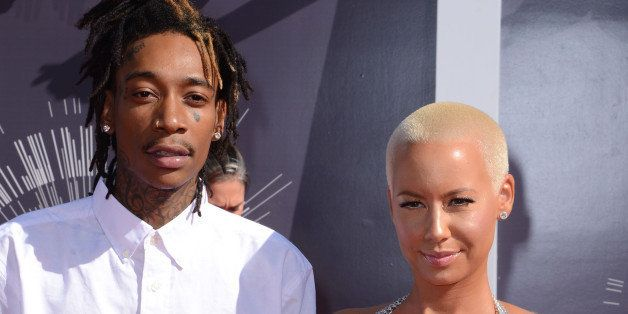 INGLEWOOD, CA - AUGUST 24:  Wiz Khalifa and Amber Rose arrive to the 2014 MTV Video Music Awards at The Forum on August 24, 2014 in Inglewood, California.  (Photo by C Flanigan/Getty Images)