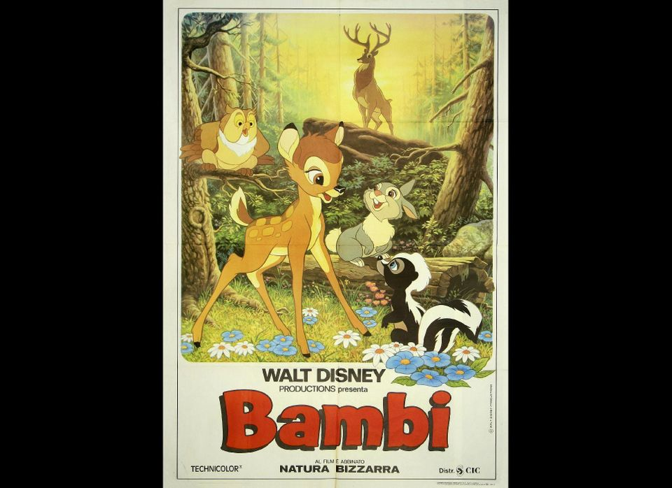 <strong>Why you should watch out:</strong> Bambi's mother's death takes place offscreen, but it's still the first thing most