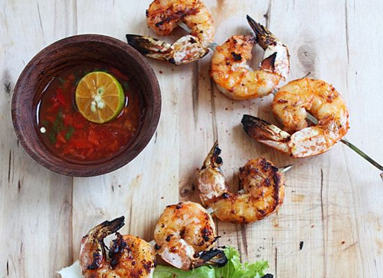 "<strong>Get the <a href=""http://rasamalaysia.com/lemongrass-grilled-shrimp/"">Lemongrass and Sriracha Grilled Shrimp recipe</a"