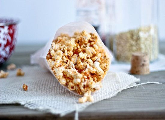 "<strong>Get the <a href=""http://www.bakeyourday.net/sriracha-sesame-ginger-popcorn/"">Sriracha Sesame Ginger Popcorn recipe</a"
