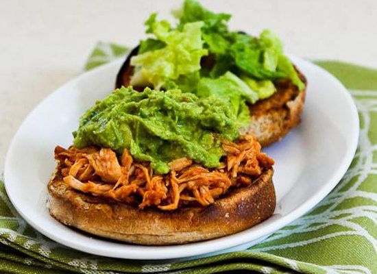 "<strong>Get the <a href=""http://www.kalynskitchen.com/2012/07/slow-cooker-recipe-for-sriracha.html"">Sriracha-Pineapple Barbec"