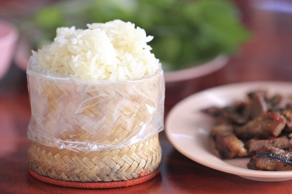While many people may associate sticky rice with Thai food, it's specific only to Northern Thailand. The country where sticky